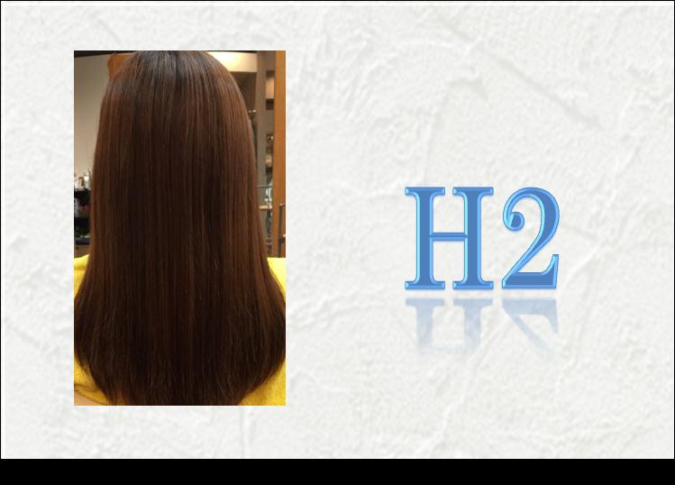 自髪を美髪へ。 水素の実力!!